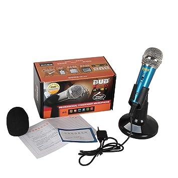 JOYOOO Micrófono de Condensador profesional Podcast Studio para Smartphone/PC / Ordenador portátil /SKYPE/MSN/Whatsapp: Amazon.es: Electrónica