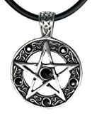 "Amazon Price History for:Exoticdream Color Star Pentagram Pentacle Pagan Wiccan Witch Gothic Pewter Pendant + 18"" PVC Necklace"
