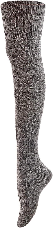 Womens 3 Pairs Thigh High Cotton Socks JM1025 Size 6-9
