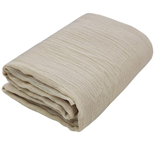 75209c2434f TiaoBug Newborn Baby Cheesecloth Wrap Cloth Blanket Photography Photo Props  (Beige