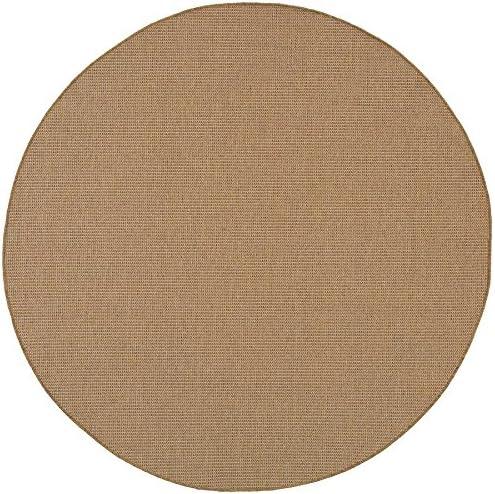 Oriental Weavers 2067X Karavia Round Area Rug, 7-Feet 10-Inch, Sand