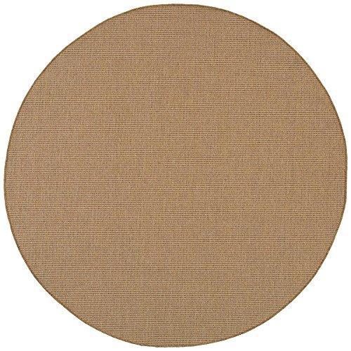 Oriental Rug Round Brown (Oriental Weavers 2067X Karavia Round Area Rug, 7-Feet 10-Inch, Sand)