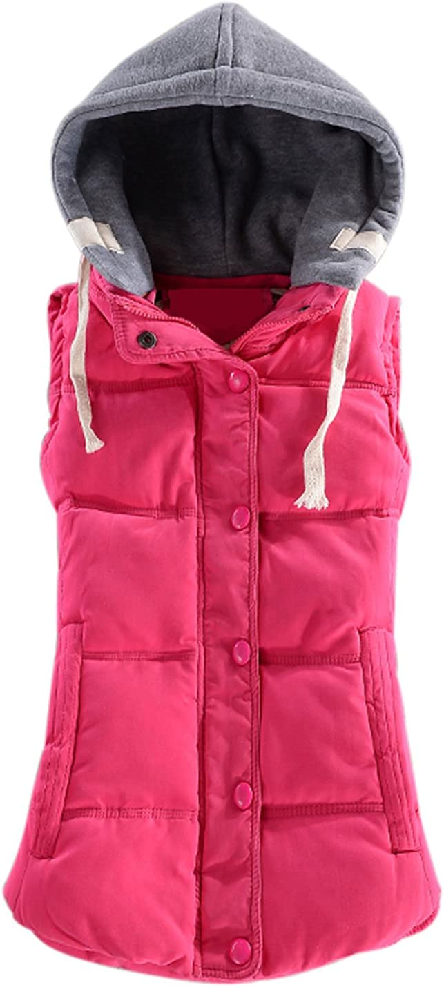 Smeiling Little Girls Quilted Winter Button Up Sleeveless Down Coat Vest