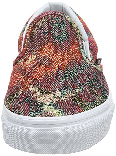 Vans Unisex-Erwachsene Classic Slip-On Low-Top Mehrfarbig (Italian Weave safari/multi)