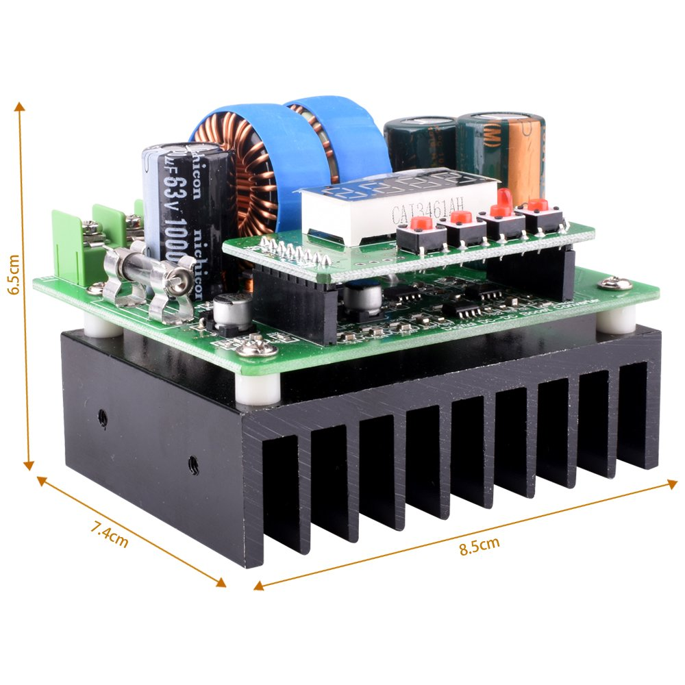 DC/DC Boost Converter, Digital-controlled Power Supply Stabilizers 6V-40V to 8V-80V Step-up Voltage Regulator 400W/10A with LED Display for Laptop and Amp Car QY02 by Longruner (Image #3)