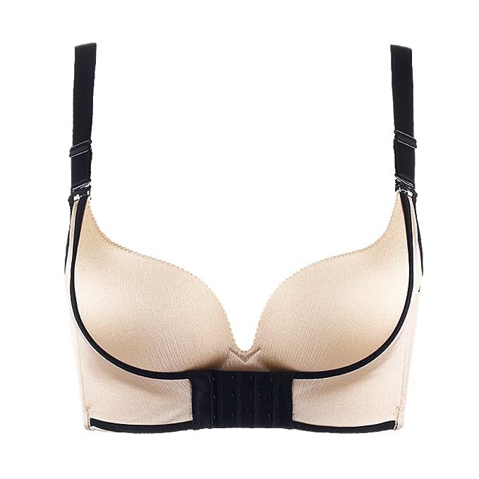 Una sola pieza ropa interior sexy/ poner un sujetador cómodo/ ningún anillo de acero hebilla pechos pequeños antes de ropa interior-B 85B: Amazon.es: Ropa y ...
