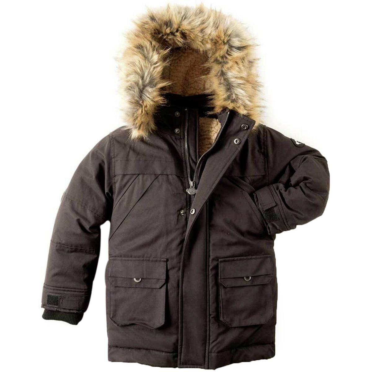 Appaman Kids  Baby Boy's Denali Down Coat (Toddler/Little Kids/Big Kids) Black 12