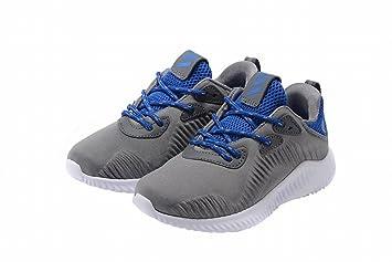 Shoes 2016 cordones deporte zapatos para niñas niños zapatos de tenis infantil con luz niño Yeezy Zapatillas, Niños, gris y azul, 2Y=22CM: Amazon.es: ...