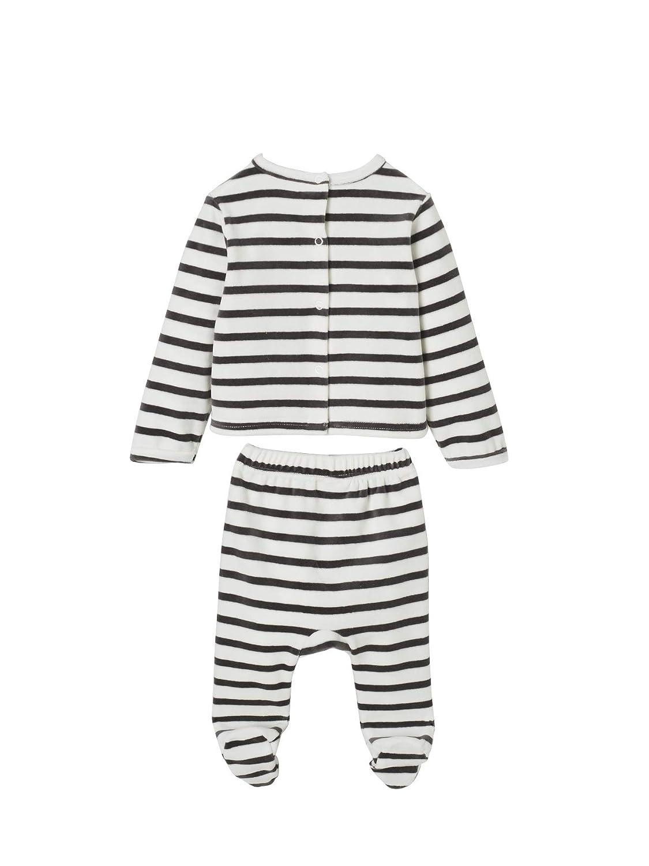 abab0cf97c903 Vertbaudet Lot de 2 Pyjamas bébé 2 pièces en Velours LOT Ivoire Naissance -  50CM  Amazon.fr  Vêtements et accessoires