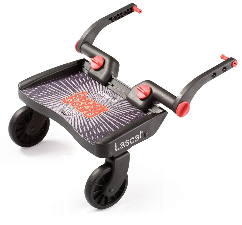 Lascal BuggyBoard Mini, Black, Universal Ride-On Stroller Board, Fits Most Strollers Using The Patented Universal Adapter, Quick Connect and Disconnect, Holds Up To 66 lbs. by Lascal