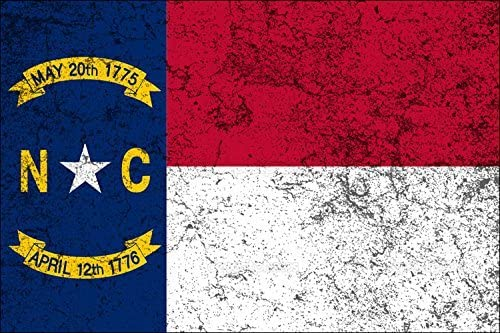 GT Graphics North Carolina American Flag Vinyl Sticker Waterproof Decal