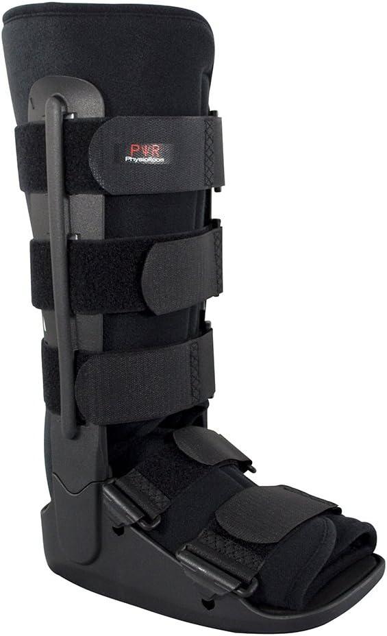 Faja de tobillo para fractura de pie, soporte ligero y bota protectora para lesiones de pie y tobillo, ideal para fracturas, cirugía postligamento y tendones, esguinces de tobillo y reparaciones de Aq