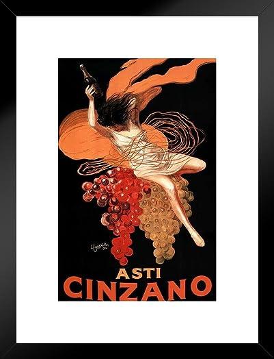 Poster Foundry Leonetto Cappiello Asti Cinzano Matted Framed Wall Art Print 20×26