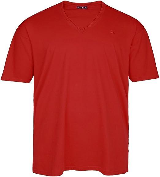 Kitaro Camiseta básico Escote V roja Tallas XXL: Amazon.es: Ropa y accesorios