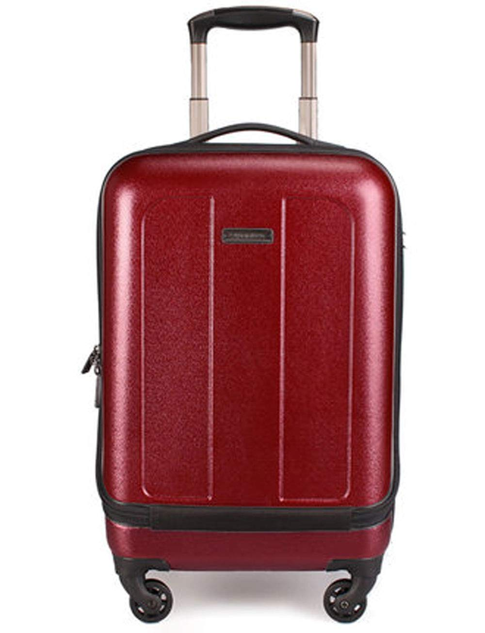 拡張ビジネスハードシェルPCの荷物、コンピュータバッグのデザイン、アルミニウム合金レバー、サイレントローラー、シャーシへのパスワード (色 : Red)   B07GSYCGGG