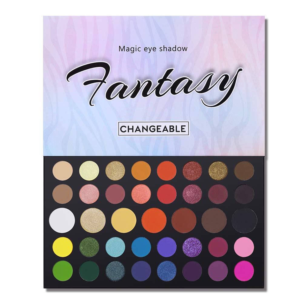 39 Colors High Pigmented Shimmer Matte Eyeshadow Makeup Palette Full Spectrum Artist Waterproof Creamy Blendable Eye Shadow Cosmetics (Color 1)