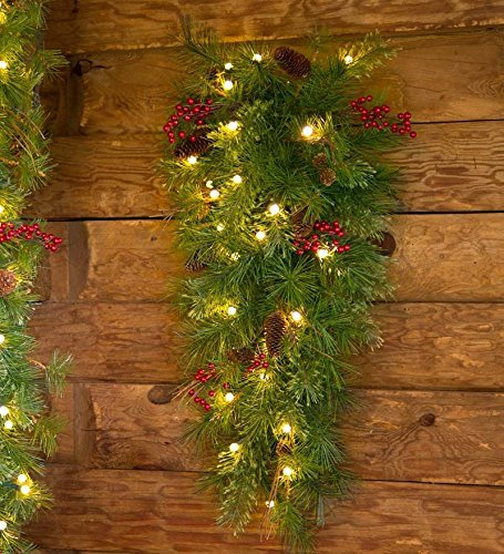 Lighted Christmas Swags For Outdoors