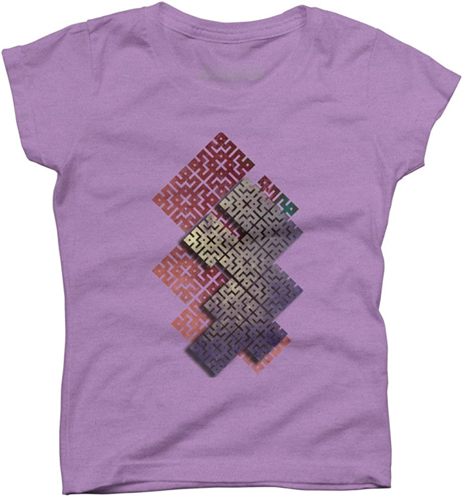 Geometric square Girls Youth Graphic T Shirt Design By Humans