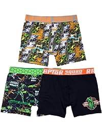 Boys' 3-Pack Jurassic World Athletic Boxer Brief Underwear