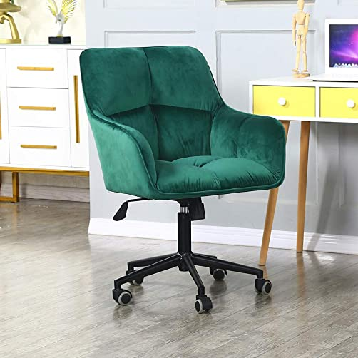 Modern Home Office Desk Chairs 360 Swivel,Comfort Velvet Upholstery Accent Chair