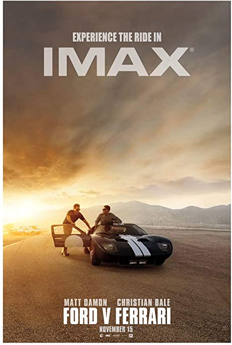 Amazon Com Ford V Ferrari Imax Movie Poster Size 24 X36 Inches An Authentic Poster Office Print With Holographic Sequential Numbering Posters Prints
