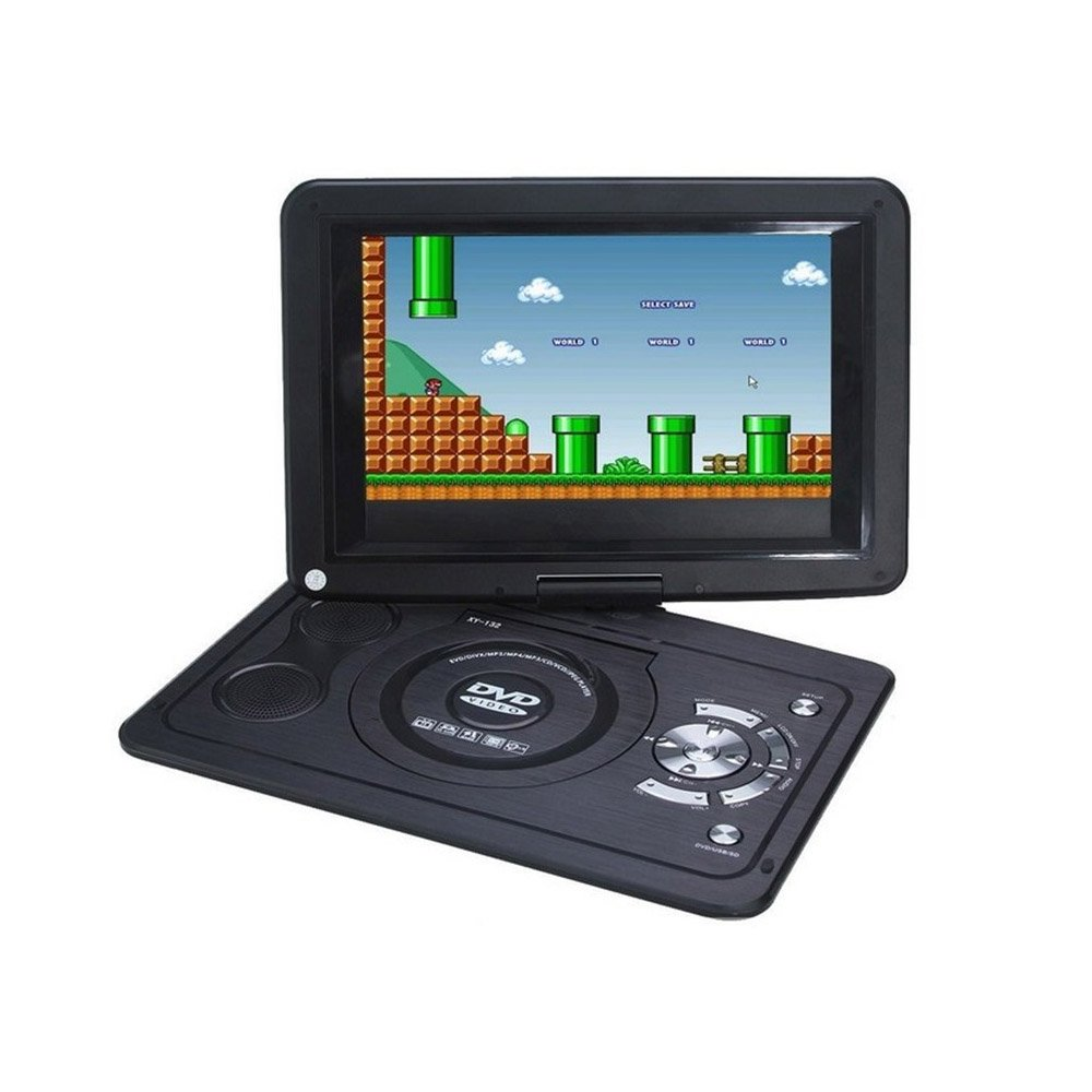 vastland 9 Inch Portable DVD Player with rotatable Screen and Built-in USB/SD Card Reader(black color)