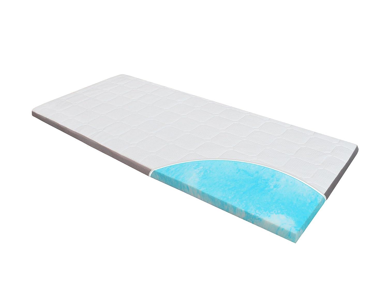 Topper-Matratze-Matratzenauflage, Homedi EBI - A3-100.8 Gel-Schaum-Matratzenauflage Gel-HR-Foam, Bezug-Waschbar, Matratzenauflage, 8 cm hoch, weiß (100x200x8cm)