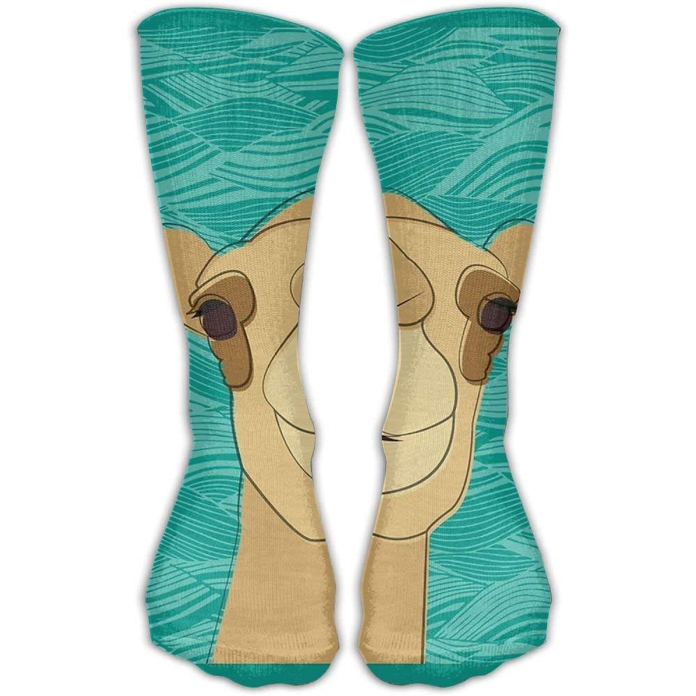ONE-HEART HR Cool Camel Fashionable Sock Long Socks Sports Athletic Crew Socks For Men Women 19.68 in//50 cm