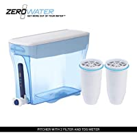 ZeroWater 23-Cup Pitcher (ZP-018) with Free Water Quality Meter and Replacement Filters Bundle