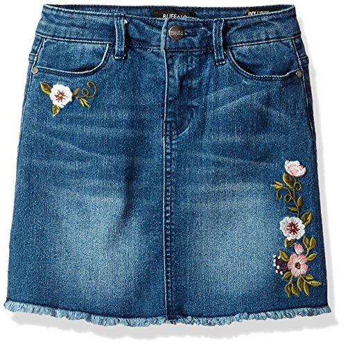 Buffalo David Bitton Big Girls' Denim Skirt, IVY Washed Indigo, 14 (Denim Washed Girls)