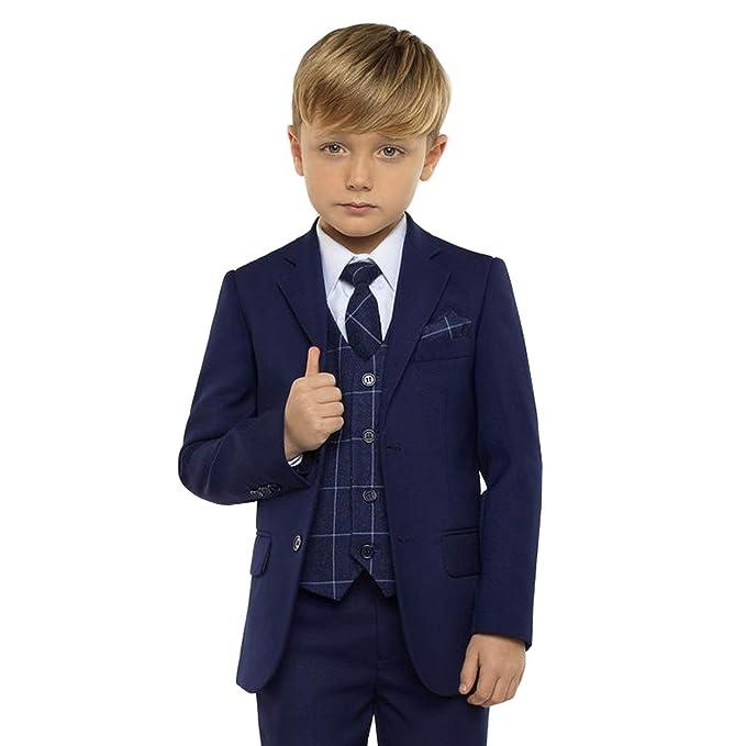 Amazon.com: Boys Tuxedo Suit Set 3 Pcs Formal Lapel Dress ...