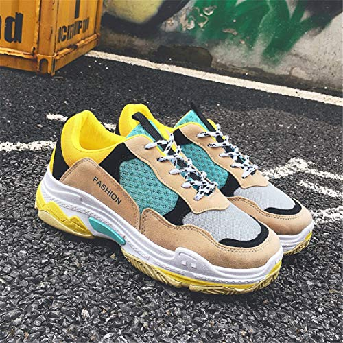 Antidérapant Confort uk Respirantes Fitness Basket Casual Léger Sport Licy Femme Chunky Chaussures Outdoor Retro Life Jaune Sneaker On17Rq5vxw