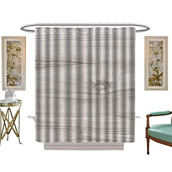 Amazon Com Luvoluxhome Shower Curtains Fabric Wood Texture