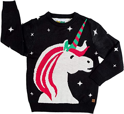 Amazon Com Cute Children S Unicorn Christmas Sweater Ugly Christmas Sweater For Kids Clothing