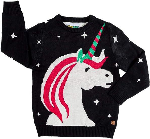 Sweatshirts Garçons et filles de Noël Jumper Licornes ou Elfes