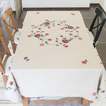 Stickerei Baumwolle Tischdecke Stoff/Tischdecke Decke/ Runden Die Wohnzimmer  Tischdecke/ European