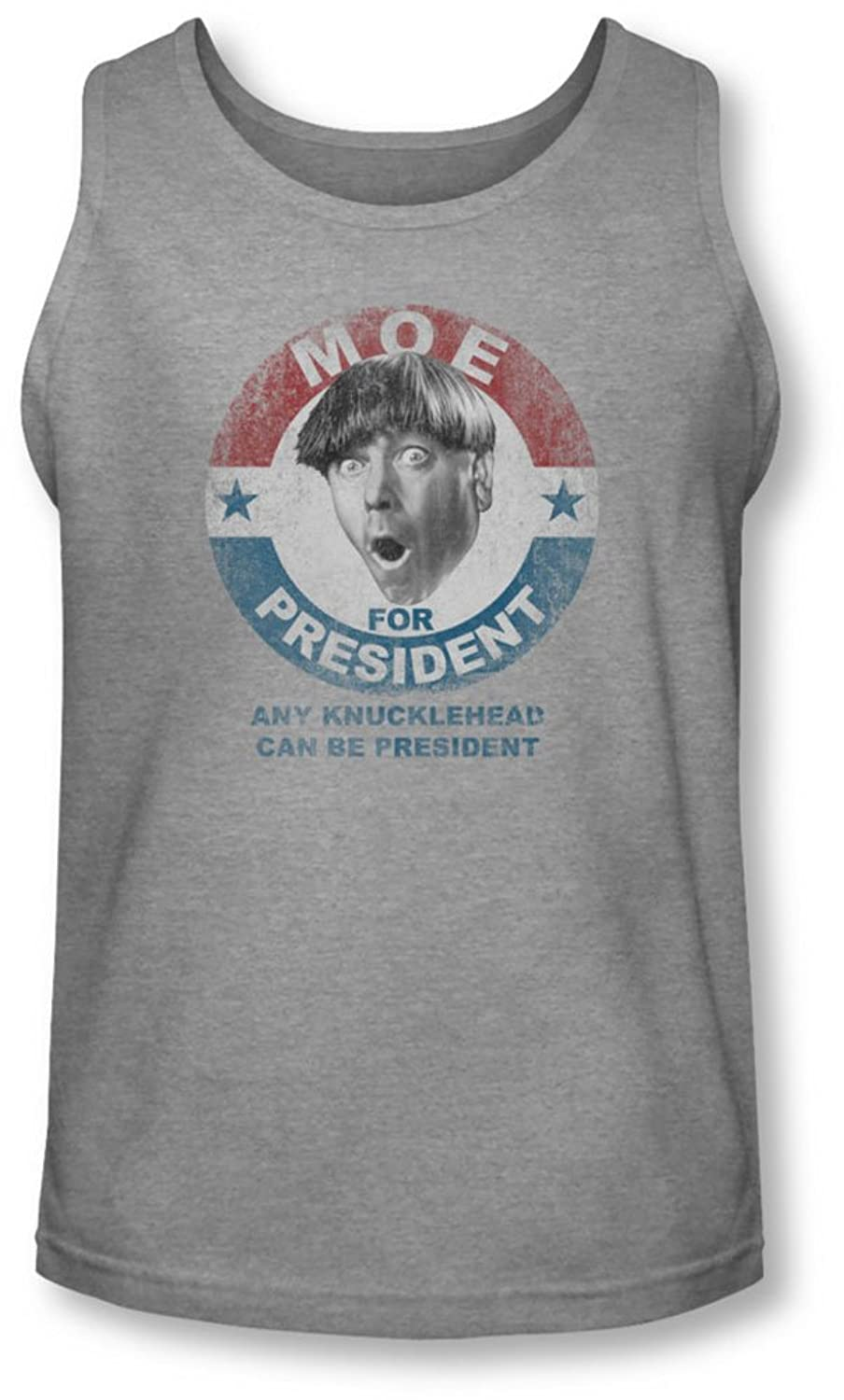Three Stooges - Mens Moe For President Tank-Top