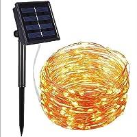 Solar Koperdraad Licht String Outdoor Water Kleurbestendig Licht Kerstdag Decoratie Tuin LED Licht String Warm wit 8…