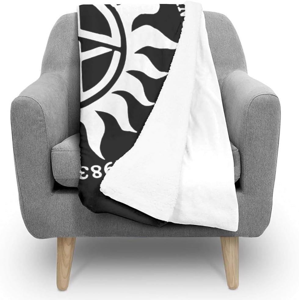 Ainiteey Super-Natural schick Bunt Fuzzy-Decke f/ür Sofa All Season Square Blankets f/ür Baby oder Erwachsene L/ässiger Stil White 130x150cm