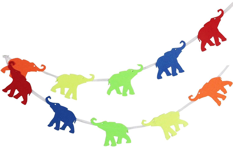 Elephant Garland Decoration for Animal Themed Children
