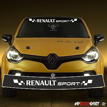 Motorsport Aufkleber Renault Sport Blendstreifen 130cmkeilsonnenschutz Rennfahne Clio Sport Rennstreifen Logo Aufkleberdecal Stickeraus