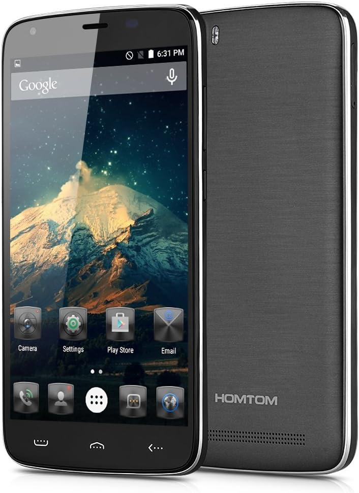 HOMTOM HT6 - Smartphone Libre Android 5.1 Lte 4G (5.5 FHD, Dual Sim, 16Gb, 2Gb Ram, HotKnot Smart Wake Air Gestures Otg, Quad Core, 8Mp), Negro: Amazon.es: Electrónica