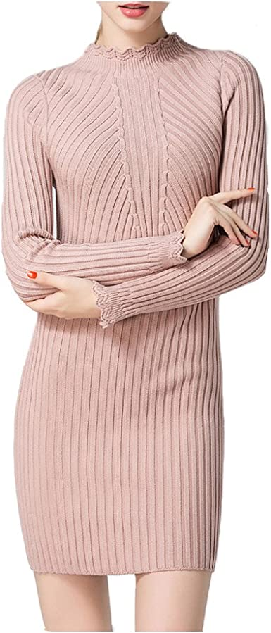 Colorful dress New Women Spring Autumn Winter Thicken Turtleneck Pullover Knitted Sweaters Long Slim Sweater