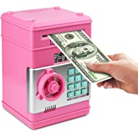 Satevin Piggy Bank, Electronic ATM Password Cash Coin Can Auto Scroll Paper  Money Saving Box