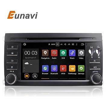 eunavi Pure Android 5.1 coche DVD para Porsche Cayenne 2003 2004 2005 2006 2007 2008 2009 2010 con Quad Core Bluetooth GPS: Amazon.es: Electrónica