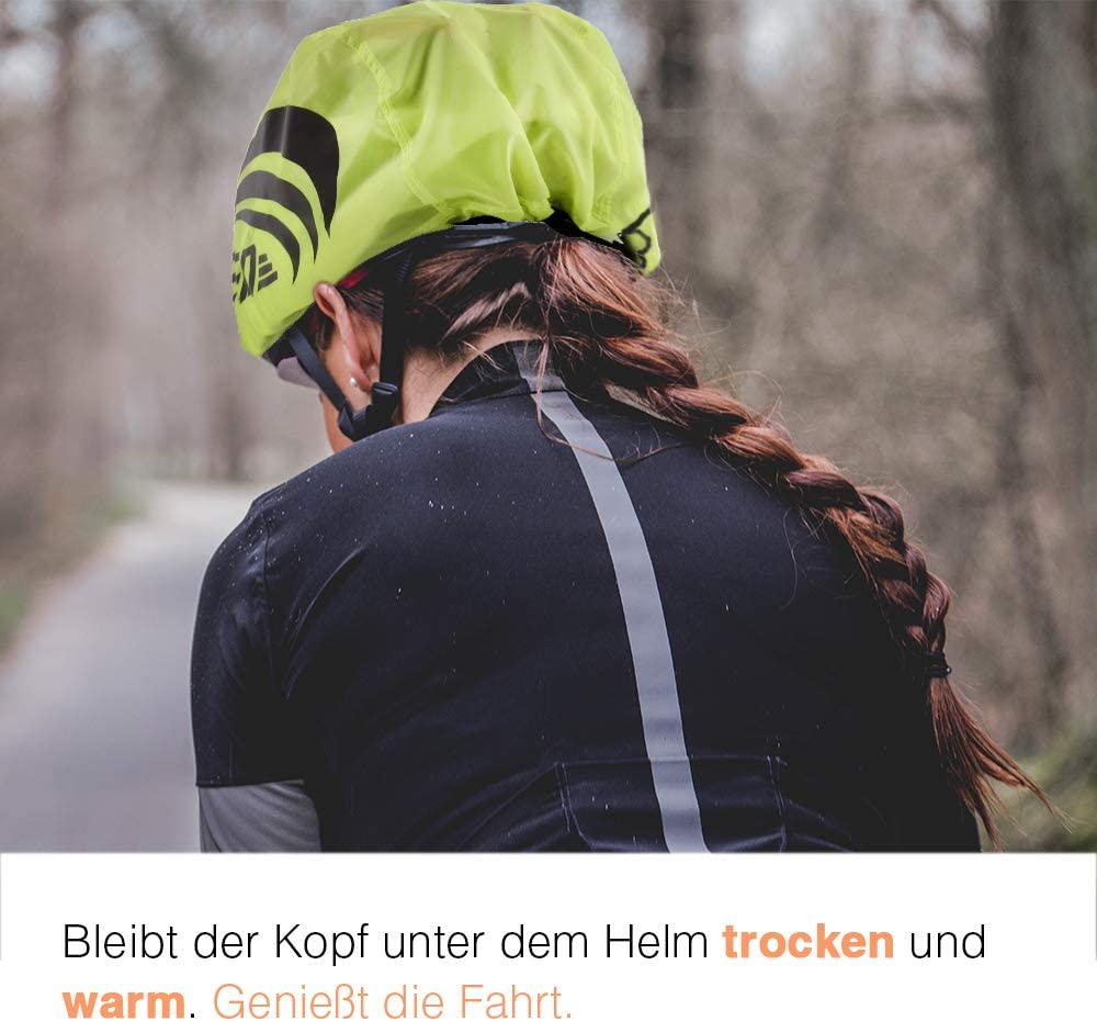 Waterproof Wind Repellent Breathable LandJoy Helmet Cover Bike Helmet Raincover Bike Helmet Cover Rain with Reflectors Elements 2 Pcs