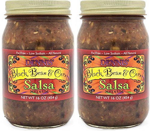 All-Natural Black Bean and Corn Salsa by Dennis' Gourmet | This Fresh, Hearty Restaurant Salsa is Low Sugar, Low Cal, Low Carb, Low Sodium, and Gluten Free! (Chicken Black Beans Corn)