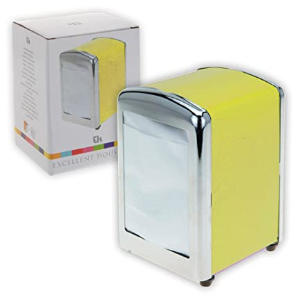 53b50499814 Guaranteed4Less Paper Napkin Holder Dispenser Diner Retro Style Kitchen Bar  Restaurant Fast Food (Yellow)  Amazon.co.uk  Kitchen   Home