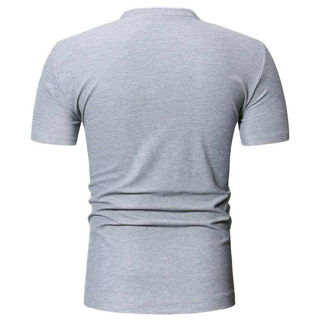 waotier Camiseta De Manga Corta para Hombre Camiseta Casual De ...
