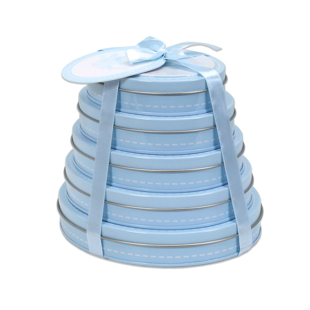 Blue Child to Cherish Handprint Tower of Time Oval